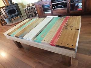 funky beach style coffee table made from pallets ideas With beach look coffee table
