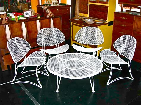 Homecrest Patio Furniture Vintage by Vintage Homecrest Salterini Wrought Iron Clamshell 5