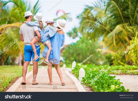 Young Family On Vacation Happy Father Stock Photo 569517100