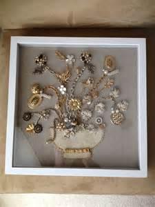 Vintage Jewelry Shadow Box Ideas