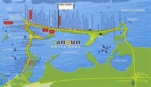 Cancun Hotel Zone Map 2013