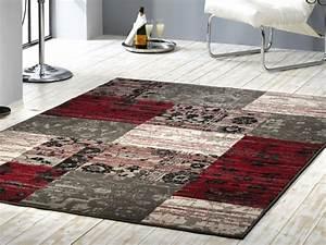 Teppich Rot Grau Schwarz : velours design teppich planta patchwork rot grau ebay ~ Bigdaddyawards.com Haus und Dekorationen