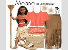 Disney Bounding as Princess Moana and Friends Elly and