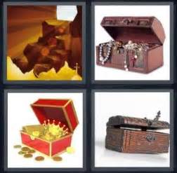 pics  word answer  cave chest gold treasure