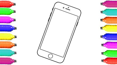 Coloring Mobil mobile phone coloring pages and drawing for