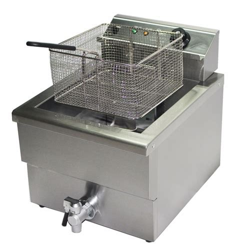 fryer deep fat electric chip commercial fish tempura drain sausages tap basket single litre fryers industrial equipment tank kitchen catering
