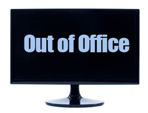 Out Of Office by Writing An Out Of Office Message Reporting