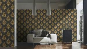 Tapete Barock Schwarz : tapete vlies architects paper barock schwarz glanz 95981 5 ~ Yasmunasinghe.com Haus und Dekorationen