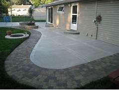 Adding Pavers To Concrete Patio Decorate Concrete Patio