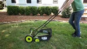 Sun Joe 20 In  Manual Reel Mower W   Grass Catcher
