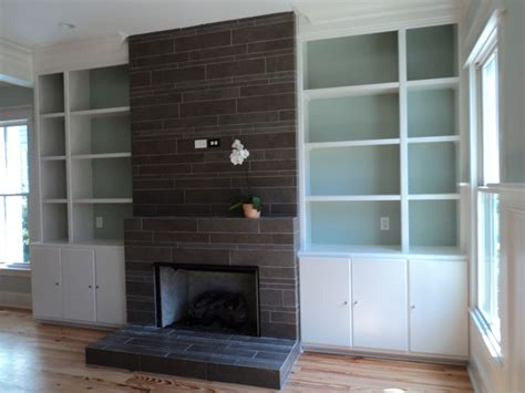 fireplace contemporary living room charleston by
