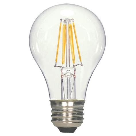 satco led filament ls satco s9562 led a19 vintage filament light bulb 6 5w 800