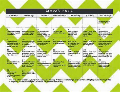 Schedule Squatting In March 78 Very Images About Monthly Fitness Challenges On