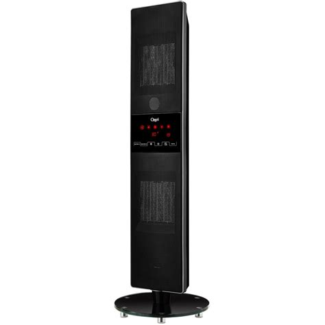 tower fan with thermostat ozeri dual zone oscillating ceramic heater and tower fan