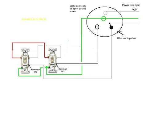 one light on two 3 way switches adding recessed