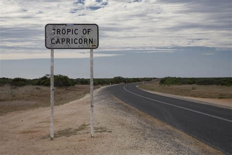 You have south deserts in australia, south africa and namibia. Tropic of Capricorn