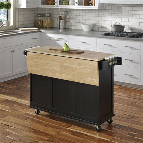 Liberty Wood Top Mobile Kitchen Cart w/ Wood or Stainless