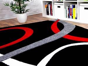 Teppich Rot Schwarz : designer teppich maui schwarz rot loops teppiche ~ Pilothousefishingboats.com Haus und Dekorationen