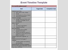 Event Timeline Template Excel calendar monthly printable