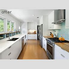 Before And After Modern Galley Kitchen Design*sponge