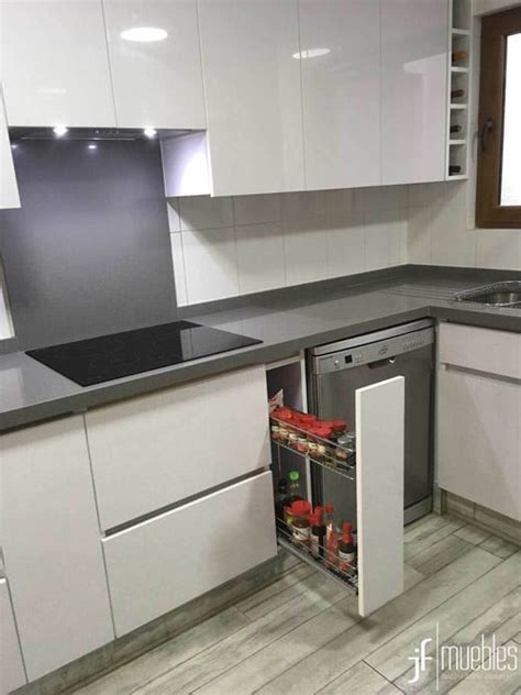 muebles de cocina en melamina alto brillo herrajes