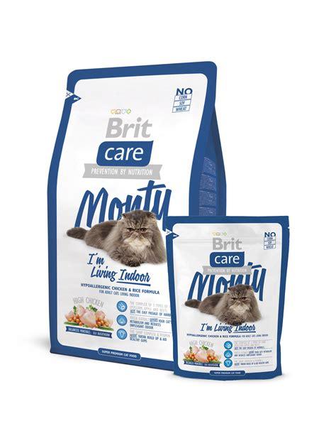 makanan kucing premium brit cat brit care premium monty i 39 m living indoor 2 kg