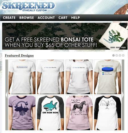 Our Facebook inspired t-shirts featured on Skreened.com!