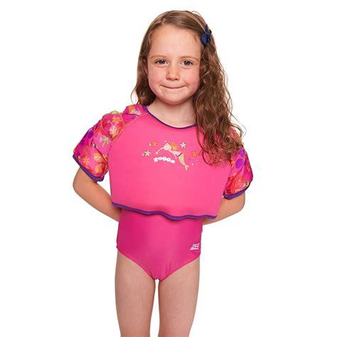 zoggs mermaid flower water wing swim vest swimbabes