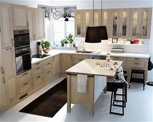 Deco Cuisine Ikea : cuisine faktum adel bouleau d 39 ikea ~ Teatrodelosmanantiales.com Idées de Décoration