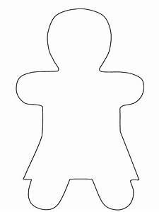 Best Photos of Gingerbread Girl Template - Girl ...