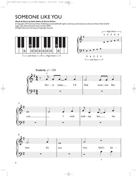 Dorable Adele Someone Like You Piano Chords Easy Motif Basic
