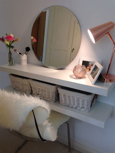 diy vanity table ideas easy diy makeup table when space is limited or you are