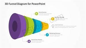 3d Funnel Diagram For Powerpoint Pslides