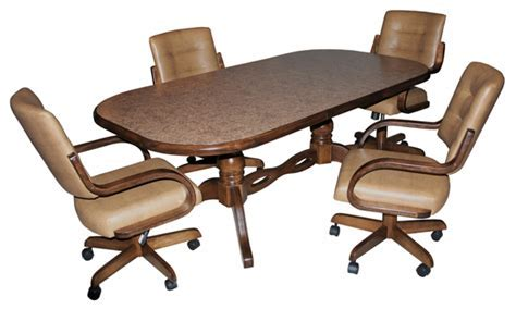 Formica dining room sets, kitchen sets with caster chairs