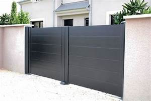 Portail Coulissant 2 Vantaux : galerie photos ksm production ~ Edinachiropracticcenter.com Idées de Décoration
