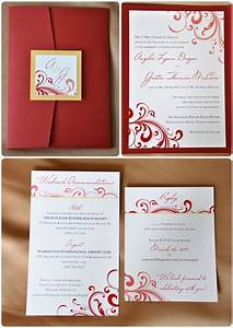 10 breathtaking red and gold wedding invitations to With wedding invitation musical design