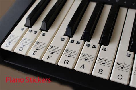 Music Keyboard Or Piano Stickers 61 Key Set Educational