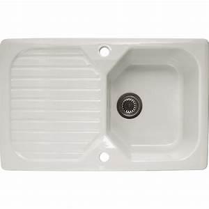 Evier En Gres Blanc 1 Bac : evier encastrer gr s blanc garrigue 1 bac avec ~ Premium-room.com Idées de Décoration
