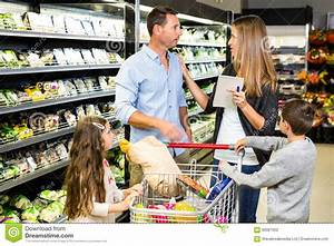 Family Doing Grocery Shopping Stock Photo - Image: 66087002