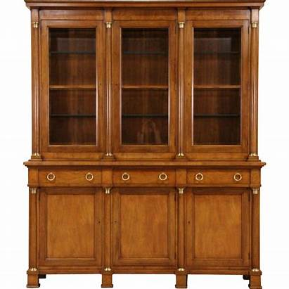 Cabinet China Breakfront Cherry Baker Bookcase Signed