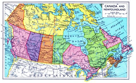 natural resource map  canada
