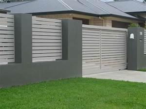 clotures jardin et portillons pour exterieurs modernes With jardin et piscine design 2 des clatures de jardin design pour delimiter avec style