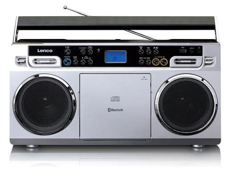 radio mit cd und usb lenco vintage ghettoblaster mit cd player usb und
