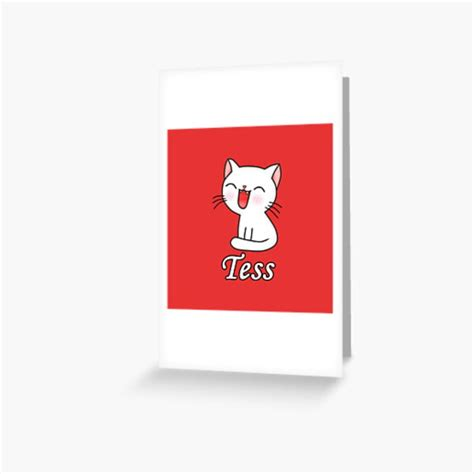 Tess Greeting Cards | Redbubble