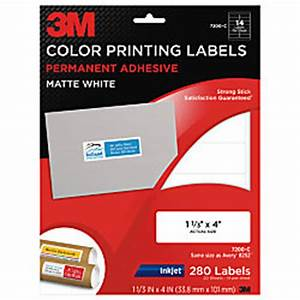 3m white inkjet shipping labels for color printing 1 13 x With 3m shipping label template