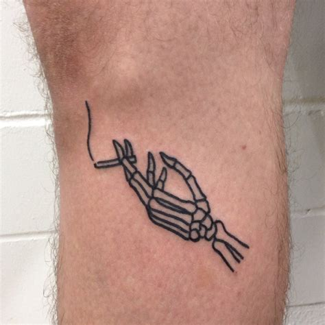skeleton cigarette  tattoo movement