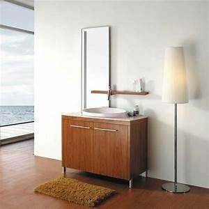 Pied Pour Meuble De Salle De Bain : le meuble de salle de bains en teck ~ Teatrodelosmanantiales.com Idées de Décoration