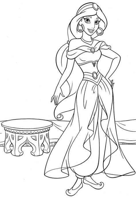 printable disney princess jasmine coloring pages everfreecoloringcom