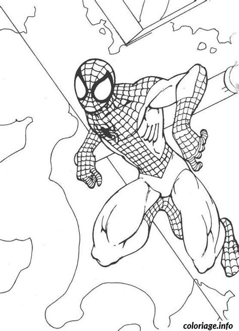 coloriage spiderman  dessin