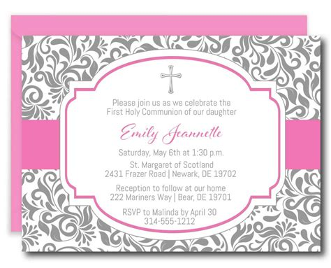 Girl First Holy Communion Invitations Announce It